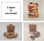 Zeep Bundel - handgemaakte natuurlijke zeep   /   Savons naturels artisanaux