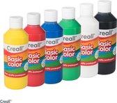 Plakkaatverf Basic waterbasis 6 kleuren 250 ml