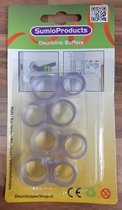 SumioProducts Deurklink Buffers - Stootdoppen - Muurbeschermers - Flexibele Deurstoppers - 4 stuks Transparant