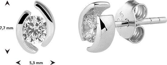Glams Oorknoppen Zirkonia - Zilver - 7.5 mm - GLAMS
