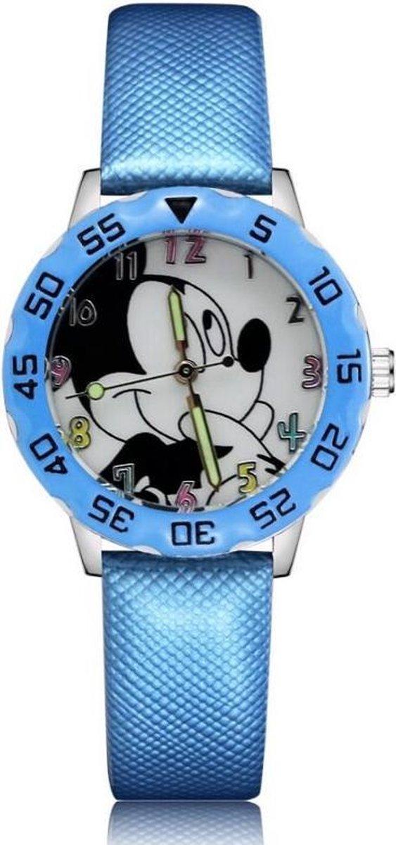 Mickey Mouse horloge met glow in the dark wijzers deluxe