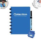 Correctbook Original A5 - Blauw - gelinieerde pagina's - Uitwisbaar / Whiteboard Notitieboek