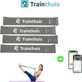 trainthuis weerstandsbanden - 4 weerstandstubes - elastieken set - inclusief opbergtas