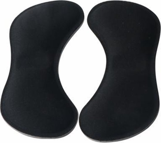 3 Paar zwart - Hielbeschermers - Zelfklevend - Voorkomt blaren - One size - Voor hakken & schoenen - Hielpijn - Hielkussen