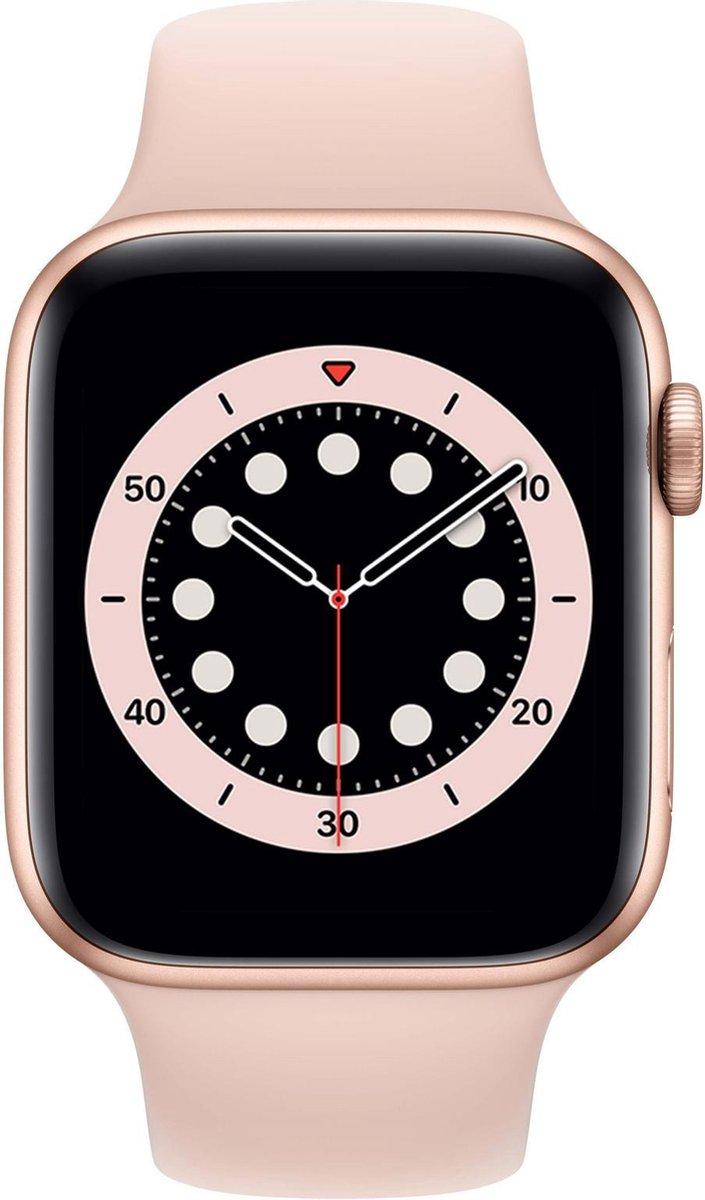 Apple Watch Series 6 - Smartwatch dames - 44 mm - Goudkleurig