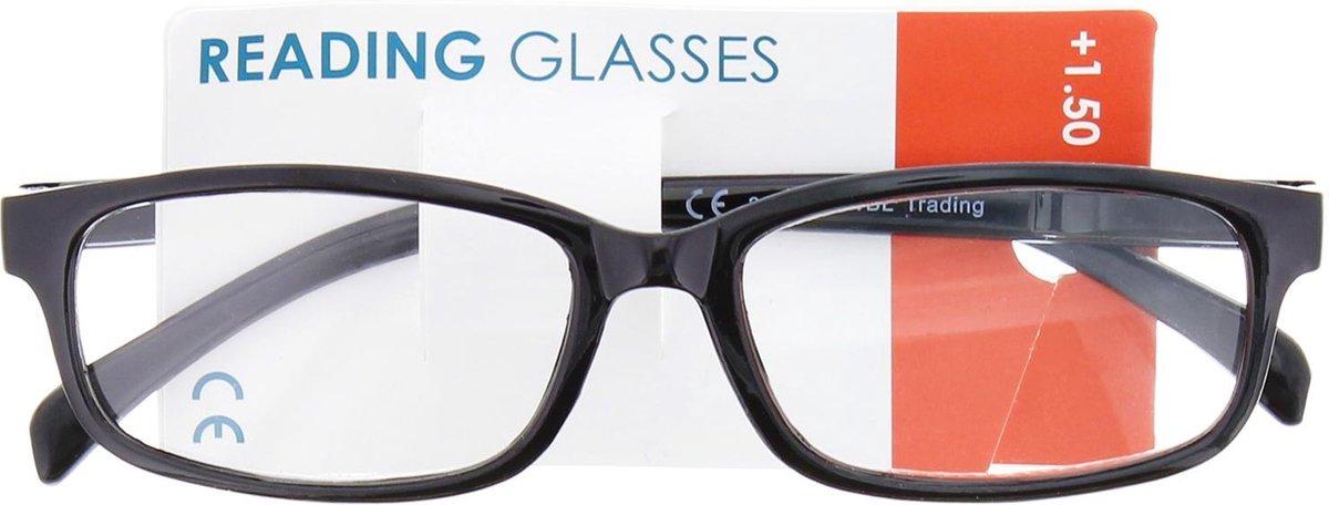 Leesbril Plastic Zwart Unisex +1.5 Dpt kopen