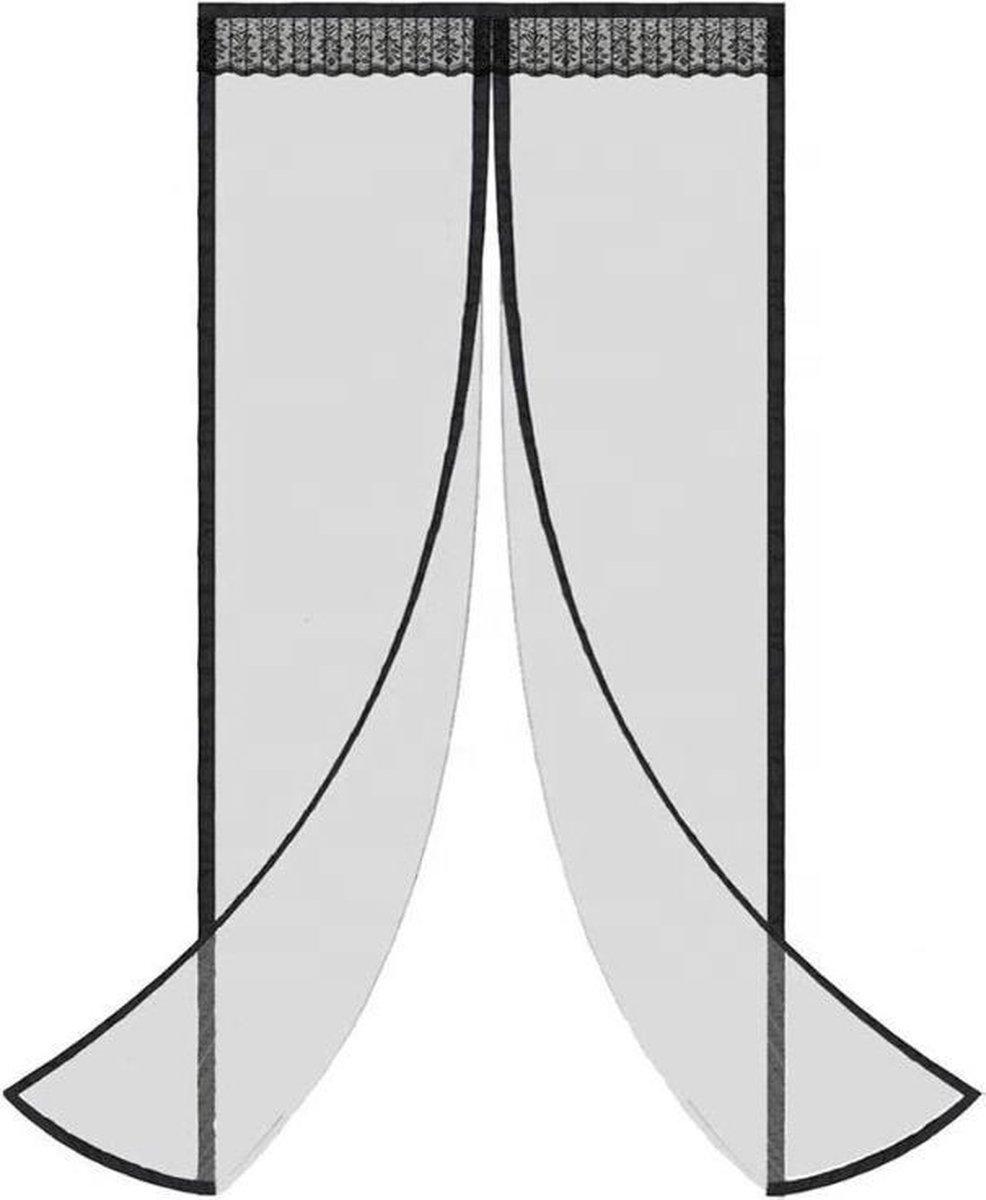 Magnetisch vliegengordijn – Vliegengordijn deur - Zwart - 90 x 230 cm - Breedte deur: 80 cm - Lichtg