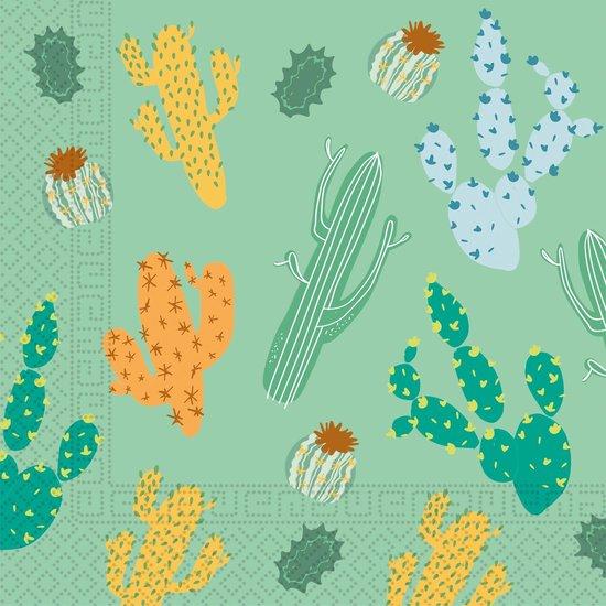 Cactus Servetten Versiering 33cm 20st