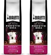 Bialetti Perfetto Moka Delicato gemalen koffie - 2 x 250 gram