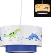 relaxdays dino hanglamp kinderkamer - kinderlamp - dinosaurus - babykamer - kinderhanglamp