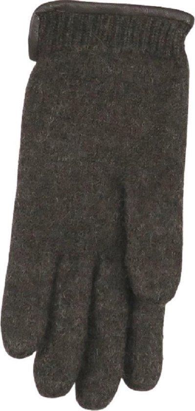Handschoenen dames van 100% wol en met echt leren randje