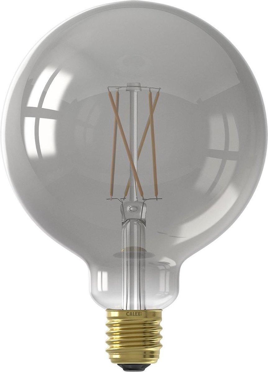 CALEX - LED Lamp - Globe - Smart LED G125 - E27 Fitting - Dimbaar - 7W - Aanpasbare Kleur CCT - Grijs - BSE