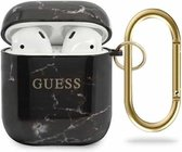 Guess Airpods - Airpods 2 Case - Zwart - Marble