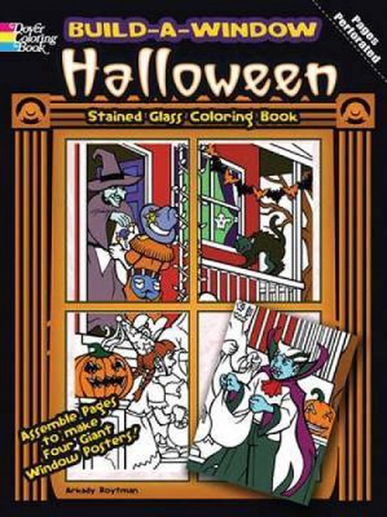 Build a Window Stained Glass Coloring Book Halloween