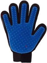 Dierenhaar Handschoen - Vachtverzorgingshandschoen - Handschoen - Kat - Hond - Knaagdieren - Vacht - Blauw-Rood