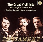 Great Violonists (1900-1913)