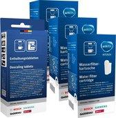 3x Brita Intenza Waterfilter - Bosch/Siemens waterfilter TCZ7003 / TZ70003 / 575491 + Bosch/Siemens ontkalkingstablet tz80002