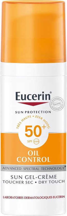 Eucerin Sun Oil Control Gel-Crème SPF50+ Zonnebrand - 50 ml