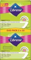 Libresse So Slim Inlegkruisjes Duo Pack 2 x 32 Stuks