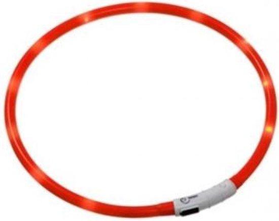 LED Honden Halsband - Rood - 20 tot 70 cm
