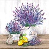Ambiente servetten - Lavendel in pot