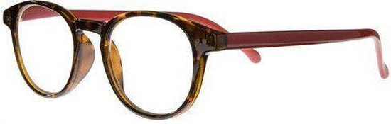 Icon Eyewear RCR003 Boston Leesbril +1.00 - Demi montuur, rode poten