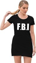FBI politie verkleed jurkje zwart voor dames S (38)
