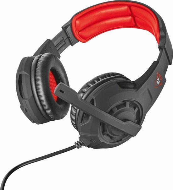 Trust GXT 310 Radius - Gaming Headset - Geschikt voor PS4, PS5 en PC - Zwart/Rood - Trust