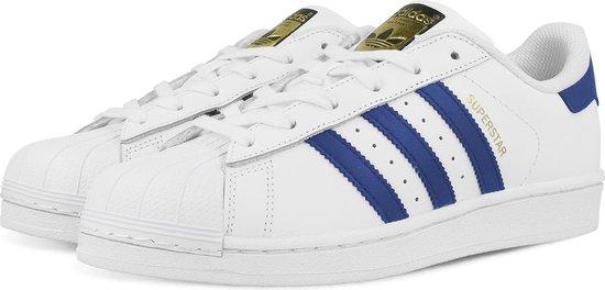 adidas SUPERSTAR FOUNDATION J S74944 - schoenen-sneakers - Vrouwen - wit/blauw -  maat  38