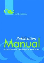 Boek cover Publication Manual of the American Psychological Association van American Psychological Associati