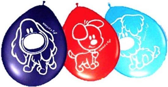 Woezel en Pip Ballonnen 30cm (8 stuks) paars rood blauw Feest Versiering v