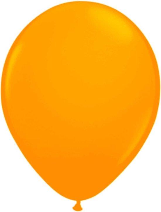 Oranje Neon Ballonnen - 50 stuks