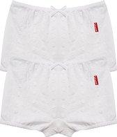 Claesen's Meisjes 2-pack Boxershort - White Embroidery - Maat 164-170