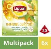 Lipton Immune Support Groene Thee - 6 x 20 theezakjes