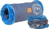 Lief! speeltunnel kat unisex jeans / blauw 50 cm