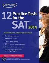 Boek cover Kaplan 12 Practice Tests for the SAT van Kaplan