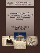 Boek cover Meyerson V. Hart U.S. Supreme Court Transcript of Record with Supporting Pleadings van Vallandigham B Baggott