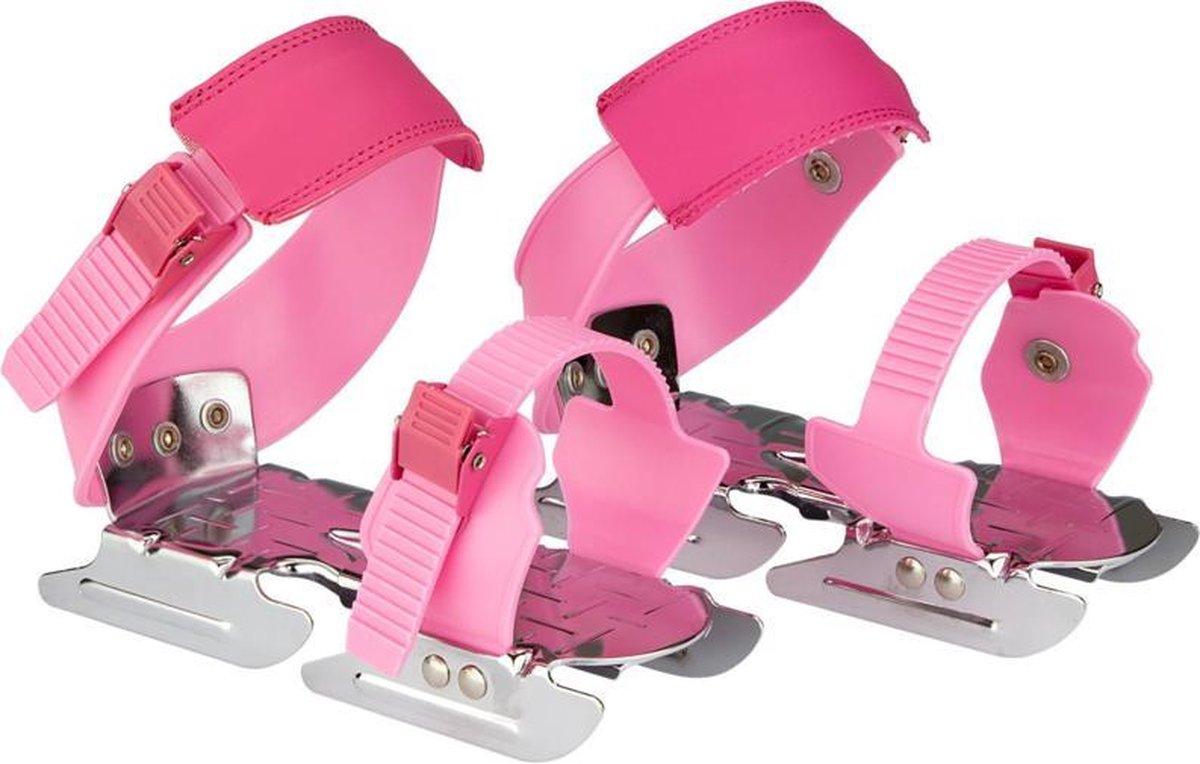 Glij-ijzers verstelbaar 24-34 roze