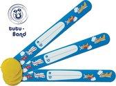 Tutu-Band® polsbandjes - Set van 2 SOS naambandjes voor kinderen - Vliegtuig