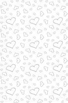 Witte loper zilveren hartjes - 450x60 cm