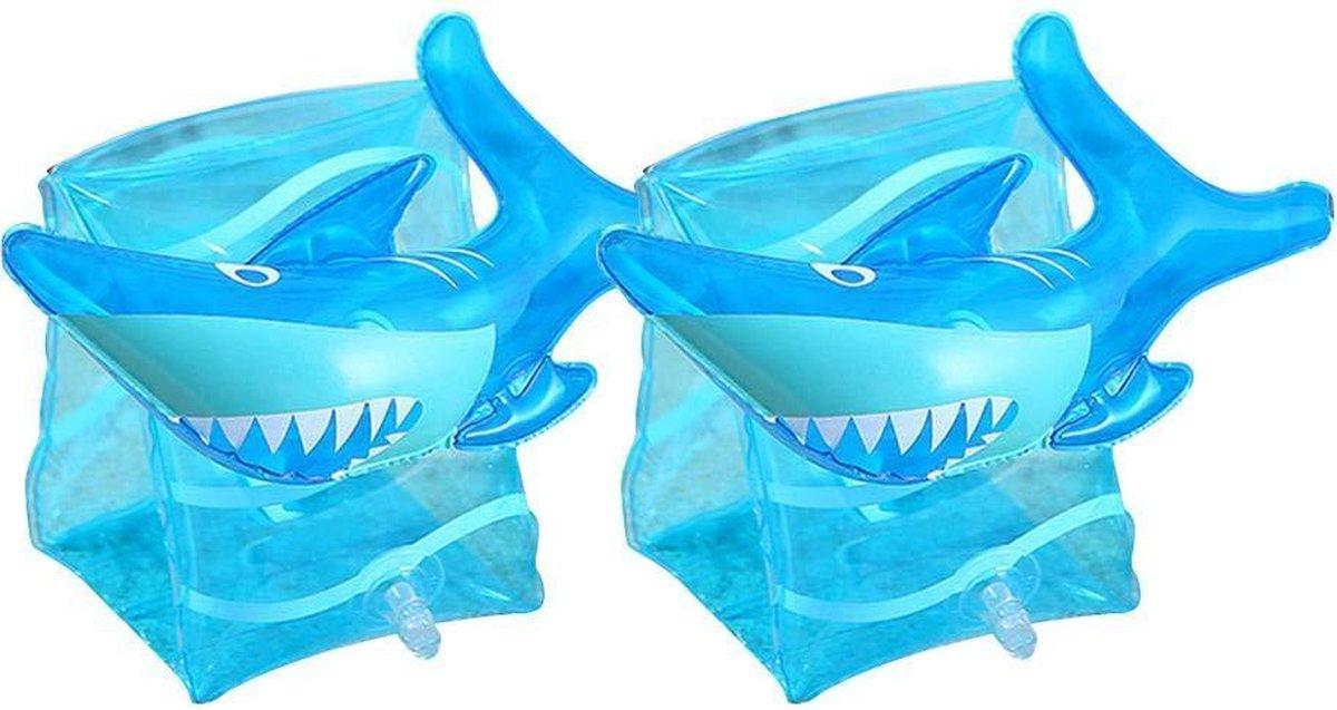 Haai zwembandjes - opblaasbaar - zwemband - zwemvleugels - zwemgordel - veilig - zwemmen - evooni - kinderen - 3-6 jaar - 15 tot 30kg - kers - aardbei - ananas - toekan - haai - unicorn - eenhoorn - krab
