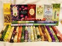 Wierook Hem 25 pakjes x 20stokjes=500stokjes van verschillende geur wierook + wierookhouder van mangowood
