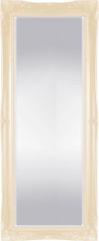 Grote Klassieke Spiegel Ethan Buitenmaat 76x165cm Ivoor