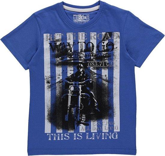 Losan Jongens Shirt Blauw met print - Maat 140