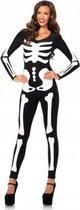 Halloween - Glow in the dark skelet catsuit M