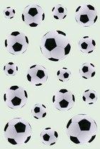 54x Zwart/witte voetbal stickers - kinderstickers - stickervellen - knutselspullen