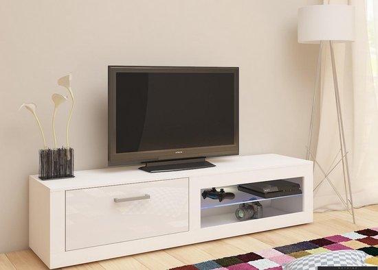 Tv Kast Wit Glans.Bol Com Tv Meubel Tv Kast Bornea Met Led Verlichting 160 Cm Body