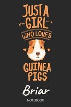 Just A Girl Who Loves Guinea Pigs - Briar - Notebook