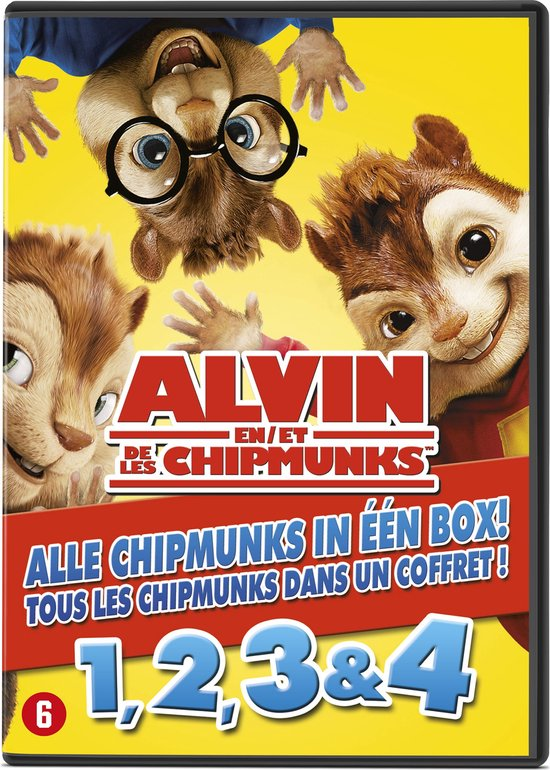 Alvin And The Chipmunks 1 t/m 4  Box Set