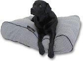 Lex & max amalia losse hoes voor hondenkussen ligzak  120x80x21cm zwart/ecru